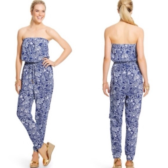 aa5846aaf3d468 Lilly Pulitzer for Target Pants - NWOT Lilly Pulitzer For Target Blue Fish  Jumpsuit